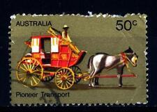 AUSTRALIA - 1972 - La vita dei primi coloni dell'Australia . Cavallo e carrozza