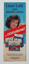 A466-Advertising Pubblicità-1985-LINES LADY CON ADESIVO LUNGO