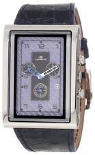 Lorenz Men's 025923CC TB7 Big Rectangular Blue Leather Band Watch