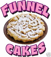 """Funnel Cakes Decal 24"""" Powdered Sugar Concession Food Truck Vinyl Sign Sticker"""