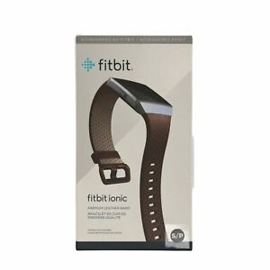OPEN BOX Fitbit Ionic Perforated Accessory Band in Cognac - Quality Leather - S