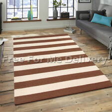 Unbranded Wool Striped Shag Rugs
