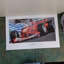 Michael Schumacher Ferrari Formula 1 Hand SignedK 2 of 50, 2000, unframed