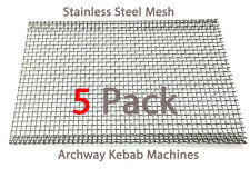 Archwayway Doner Kebab Machine Burner Mesh Heavy Duty Stainless Steel Pack of 5
