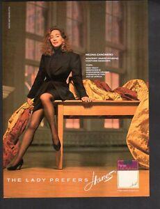 Vintage advertising print Fashion pantyhose Hanes Milena Canonero designer ad