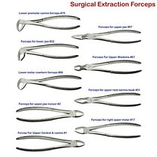 Surgical Dental Extraction Forceps Tooth Extracting Lower Upper Root anterior CE
