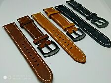 Genuine Leather Strap/Band fit Seiko Watch CLASP 20 22 mm Suede UK easy fit pins