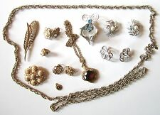 Collection of Sarah Coventry Jewelry Brooches, Chain, Pendants, Earrings