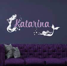 Custom Girl Name Wall Decal Mermaid Vinyl Sticker For Girl Bedroom Nursery FD185