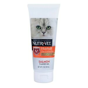 Cat Hairball Paw Gel Salmon Flavor Made in USA 3 oz from Nutrivet