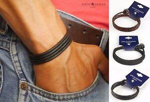 Mens Leather Bracelet Adjustable SURF PATROL Wristband Surfer Braided Cord Boy