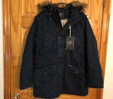 ABERCROMBIE & FITCH B-9 SHERPA LINED PARKA NAVY OUTERWEAR MENS SIZE S NWT $260