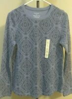 NWT Sonoma Women Sweater Gray Long Sleeves Crew Neck Size S