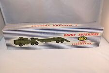 Dinky Toys 660 Mighty Antar Tank Transporter excellent plus empty original box