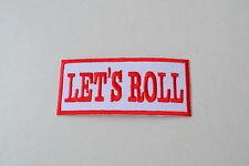 LET `s Roll, patch, PARCHE, para planchar, Cruising, Biker, Rojo & Blanco