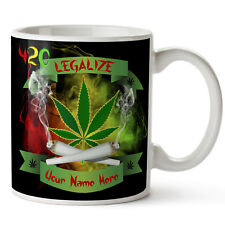Personalised Mug Weed Smoke Christmas Secret Santa Stocking Filler Xmas SH039