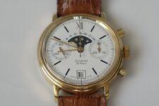 Vintage technora le renoir chronograph reloj de pulsera, Cal. Valjoux 7734, Moon Phase
