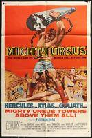 MIGHTY URSUS Ed Fury  ORIGINAL US FF 1961 1-SHEET MOVIE POSTER 27 x 41