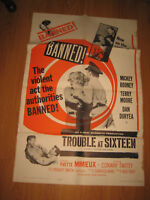 Trouble At Sixteen Original 1sh Movie Poster R61 the violent act the authorities