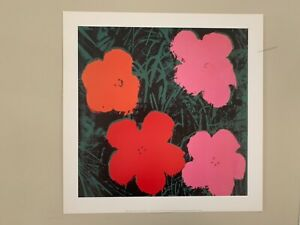 ANDY WARHOL,FLOWERS I, AUTHENTIC 2001 ART PRINT