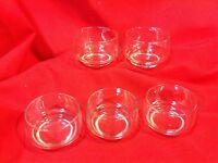 5pc lot Clear Glass Custard/pudding/dessert Cups