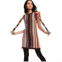 Missoni for Target Zig Zag Chevron Sweater Dress Sz S Sleeveless Knit Crew Neck