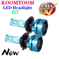 KOOMTOOM 2xH7 55W Hohe Abblendlicht-LED-Scheinwerfer-Lampen-Kits 8000LM 5000K