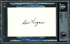 Ben Hogan Certified Authentic Autographed Signed 3x5 Index Card Beckett 11628459