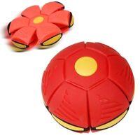 UFO Deformation Flying Ball Soccer Magic Football Flat Throw Ball Toy Game Kids