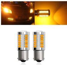 2x ampoule BA15S LED P21W Orange 1156 33 smd Feux veilleuse clignotants 12V Auto