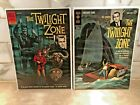 The Twilight Zone (1962) Gold Key #1 issue and Dell #2 issue very nice