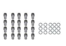 20 Pc Set Chrome Steel Mag Shank Lug Nuts 12MM x 1.25 For Nissan Datsun Older Al