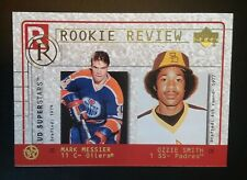 2002-2003 Upper Deck UD Superstars Rookie Review Ozzie Smith/Mark Messier #R1