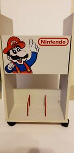 Vintage Nintendo NES Rare rolling Mario Storage cart cabinet shelf
