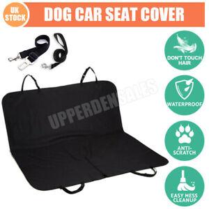 Waterproof Pet Dog Car Rear Back Seat Cover Auto Protector Mat Traval Cushion UK