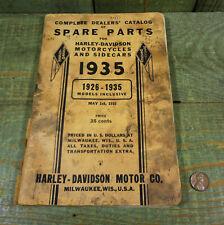 Antique Vtg Pre War 1935 Harley Davidson Motorcycles Dealers Spare Parts Catalog