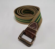 American Eagle Outfitters Canvas Belt D Ring Striped Green 36 38 40