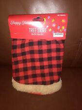 Plaid and Tan  Mini Christmas Tree Skirt