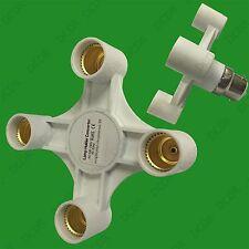 1x B22 to 4x E14 Light Bulb Holder Adaptor Studio Photography Socket Splitter