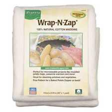Wrap-n-zap 100 Natural Cotton Batting 110cm X 90cm -natural. Pellon