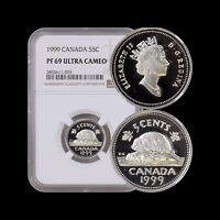 1999 Canada 5 Cents (Silver) - NGC PF69 UC - Top Pop 🥇 SCARCE