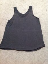 Womens Jeans west Sleeveless Black Top Size Small GUC