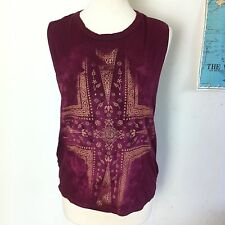 urban outfitters truly madly deeply distressed boho grunge sleeveless top xs