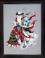 Winter White Santa - Mirabilia Designs/Nora Corbett chose chart/embellishments