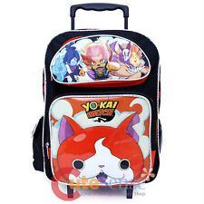 "Yokai Watch Large School Roller Backpack 16"" Large Wheeled Trolley Bag"