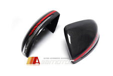 Replacement Carbon Fiber Side Mirror Covers Set Red for Mercedes W205 W213 W222