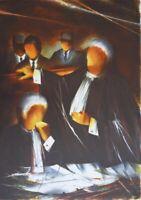 Poulet Raymond: Los Abogados - Litografía Original Firmada/Numerada, 450ex