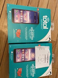 LOT OF 2 BRAND NEW LG Journey LTE LGL322DL - 16GB - Black (TracFone)