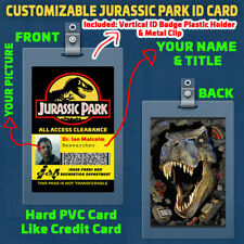 Jurassic Park - Customizable with your PICTURE, NAME & TITLE Prop ID Badge