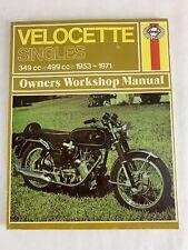 Haynes Velocette Singles 349cc 499cc 1953 - 1971 Manual Jeff Clew